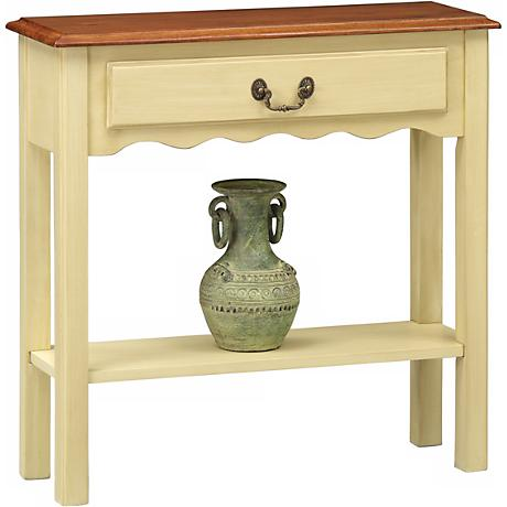 Favorite finds ivory finish wave side table k3071 for 10 inch depth console table