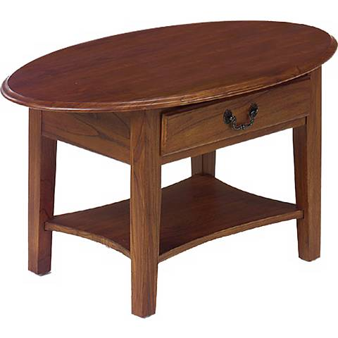 Favorite Finds Medium Oak Finish Oval Coffee Table