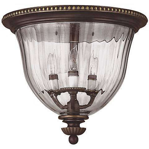 "Cambridge Collection Bronze 14 1/2"" Wide Ceiling Light"