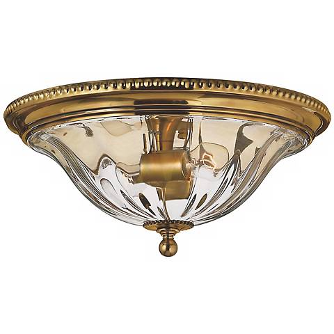 "Hinkley Cambridge Brass 16 1/4"" Wide Ceiling Light"