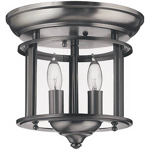 "Hinkley Gentry 9 1/2"" Wide Pewter Ceiling Light"