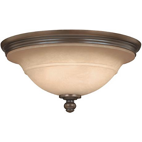 """Plymouth Collection Olde Bronze 17 1/2"""" Wide Ceiling Light"""