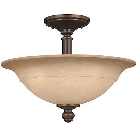 """Plymouth Collection Olde Bronze 16"""" Wide Ceiling Light"""