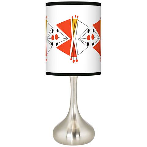 Lexiconic III Giclee Droplet Table Lamp