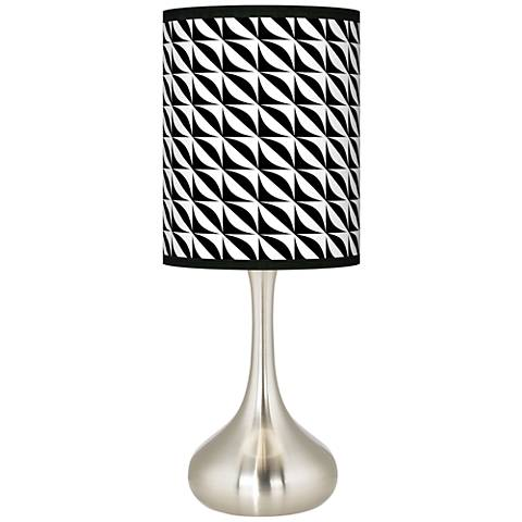 Waves Giclee Droplet Table Lamp