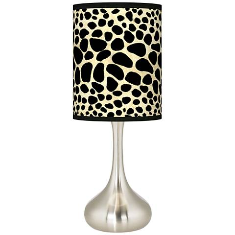 Leopard Giclee Droplet Table Lamp