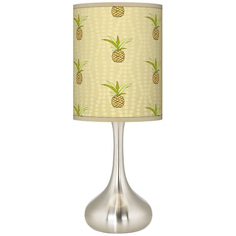 Pineapple delight giclee droplet table lamp k3334 20d34 lamps plus - Artistic d lamp shade designed with modern and elegant shape style ...