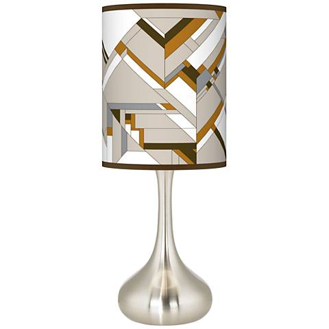 Craftsman Mosaic Giclee Droplet Table Lamp
