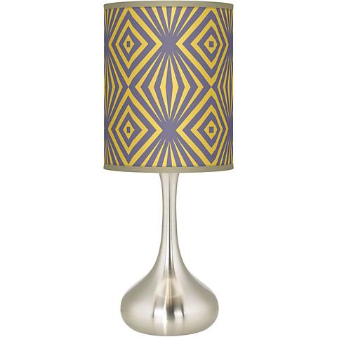 Deco Revival Giclee Droplet Table Lamp
