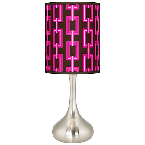 Chain Links Giclee Droplet Table Lamp