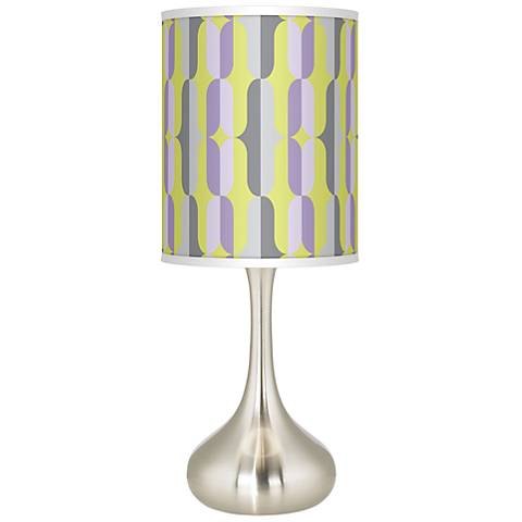 Side By Side Giclee Droplet Table Lamp