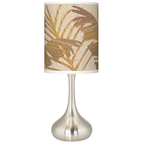 Tropical Woodwork Giclee Droplet Table Lamp