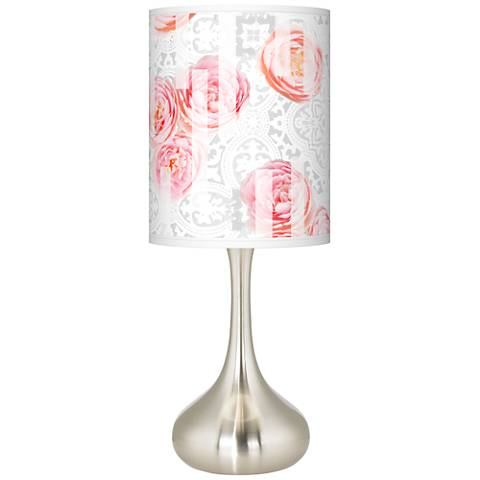 Rose Blush Giclee Droplet Table Lamp