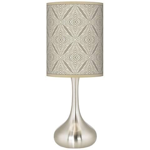 Moroccan Diamonds Giclee Droplet Table Lamp