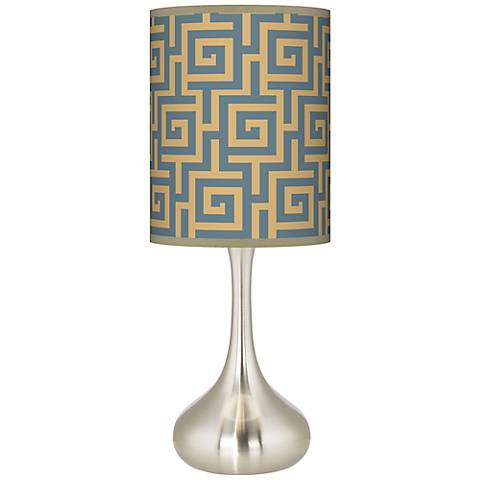 Greek Key Storm Giclee Droplet Table Lamp
