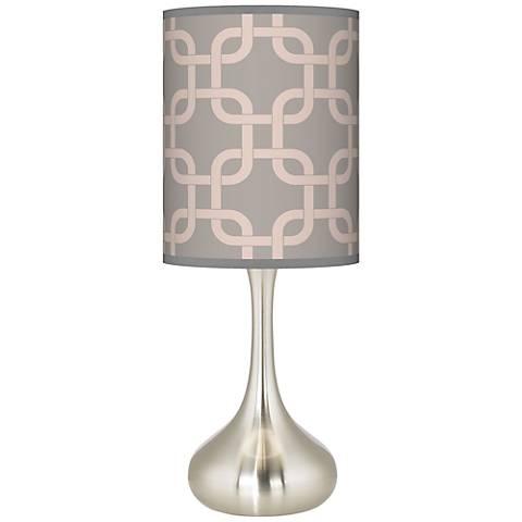 Smoke Lattice Giclee Droplet Table Lamp