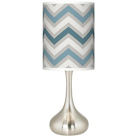 Wave zig zag giclee droplet table lamp k3334 5d936 lamps plus - Artistic d lamp shade designed with modern and elegant shape style ...