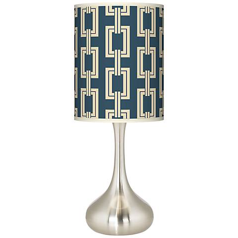 Chain Links Vanilla Giclee Droplet Table Lamp