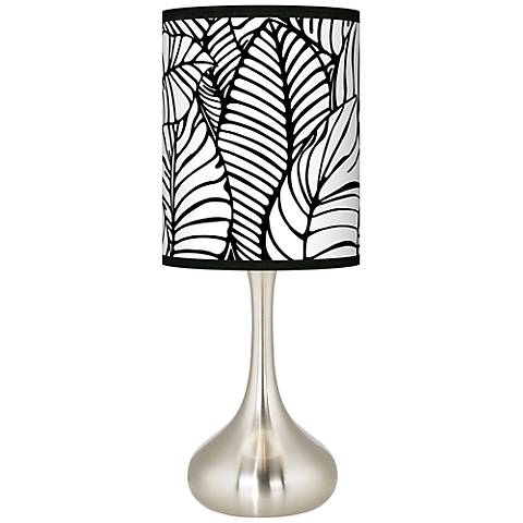 Tropical leaves giclee droplet table lamp k3334 8d538 lamps plus - Artistic d lamp shade designed with modern and elegant shape style ...