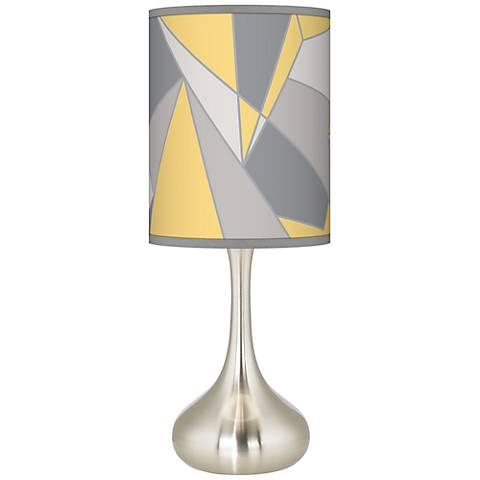 Modern Mosaic II Giclee Droplet Table Lamp