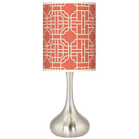 Mandarin Giclee Droplet Table Lamp