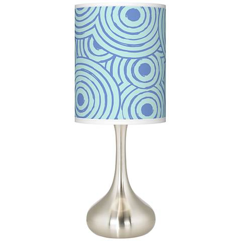Circle Daze Giclee Droplet Table Lamp