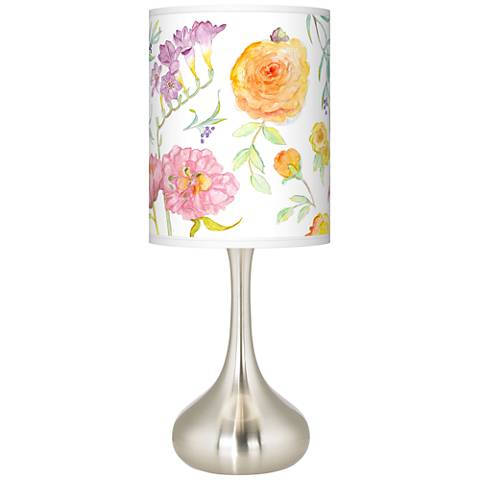 Spring Garden Giclee Droplet Table Lamp