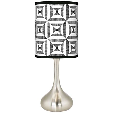 Tile Illusion Giclee Droplet Table Lamp