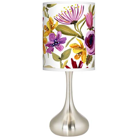 Bountiful Blooms Giclee Droplet Table Lamp