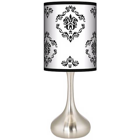 French Crest Giclee Droplet Table Lamp