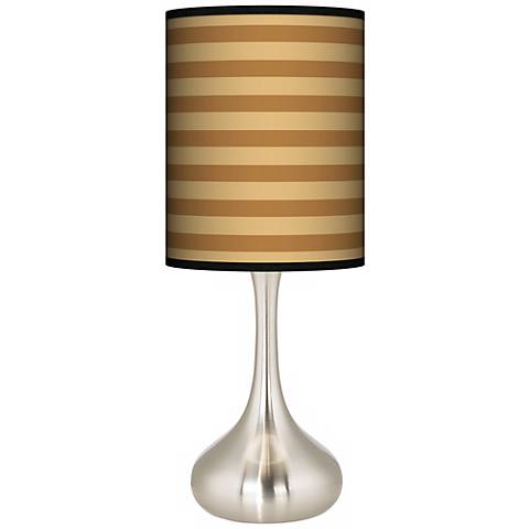 Butterscotch Parallels Giclee Droplet Table Lamp