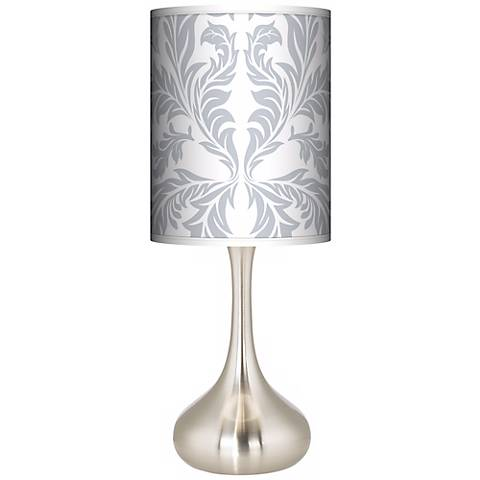 Silver Baroque Giclee Droplet Table Lamp