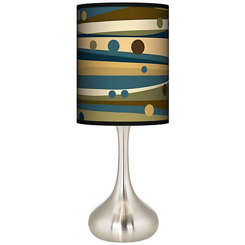 Dots & Waves Giclee Droplet Table Lamp