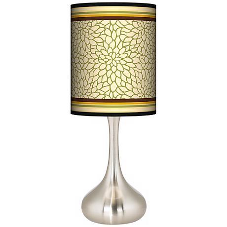 Stacy Garcia Avocado Dahlia Giclee Droplet Table Lamp