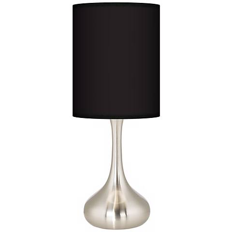 All Black Giclee Droplet Table Lamp