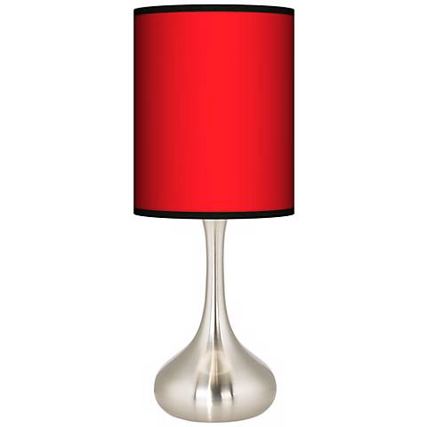All Red Giclee Droplet Table Lamp