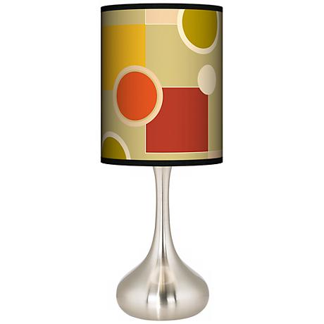 Retro Citrus Medley Giclee Droplet Table Lamp