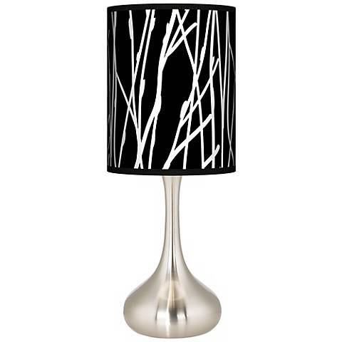 Stacy Garcia Twiggy Black Giclee Droplet Table Lamp