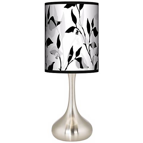 Three-Tone Leaves Giclee Droplet Table Lamp