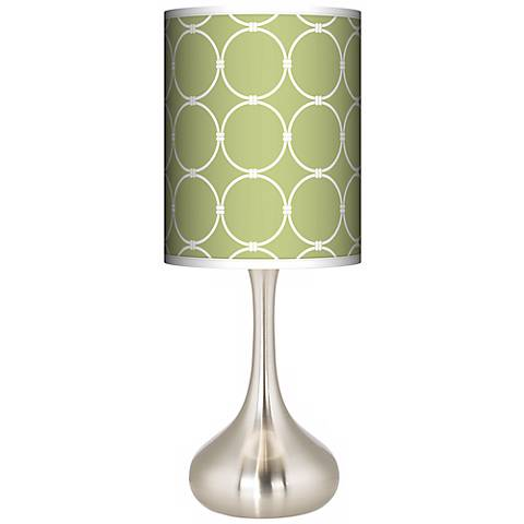 Spring Interlace Giclee Droplet Table Lamp