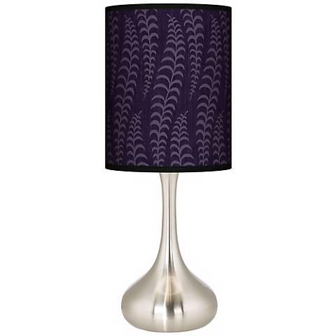 Stacy Garcia Fancy Fern Rich Plum Giclee Droplet Table Lamp