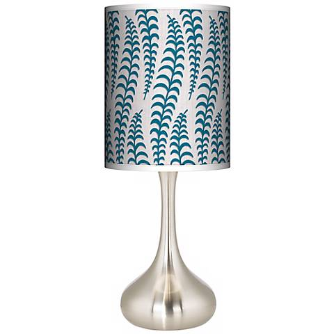 Stacy Garcia Fancy Fern Peacock Giclee Droplet Table Lamp