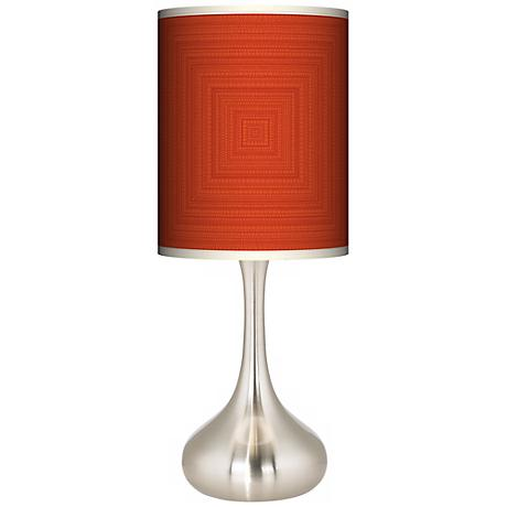 Stacy Garcia Crackled Square Coral Giclee Droplet Table Lamp