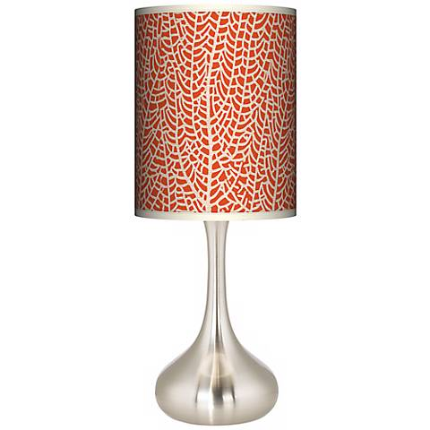 Stacy Garcia Seafan Coral Giclee Droplet Table Lamp
