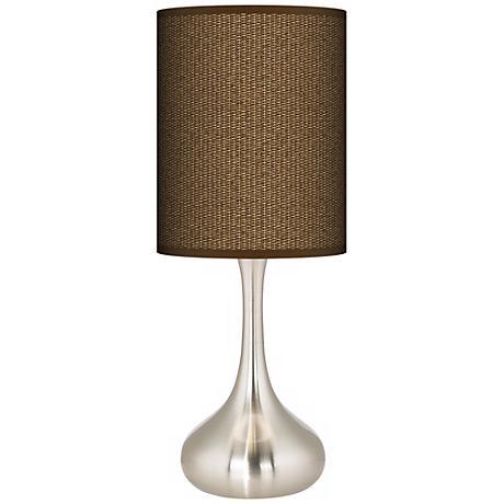 Khaki Giclee Droplet Table Lamp