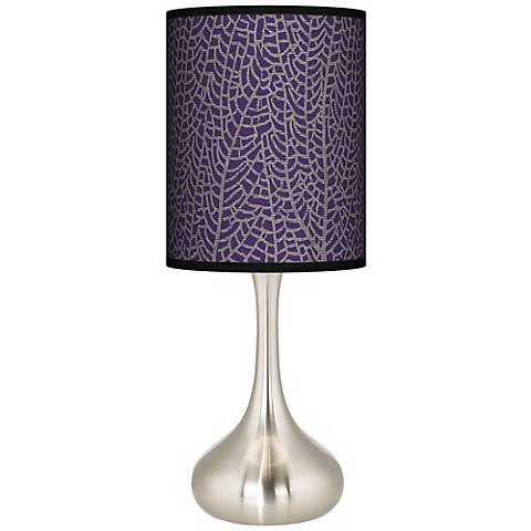 Stacy Garcia Seafan Rich Plum Giclee Droplet Table Lamp