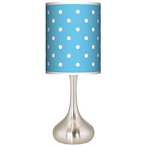 Mini Dots Aqua Giclee Droplet Table Lamp