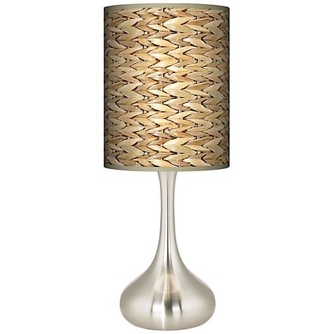 Seagrass Giclee Droplet Table Lamp