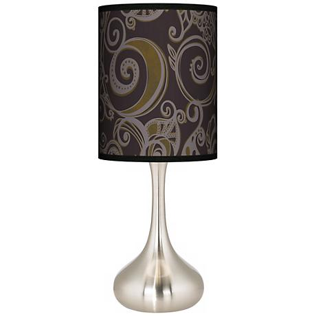 Stacy Garcia Ornament Metal Giclee Droplet Table Lamp