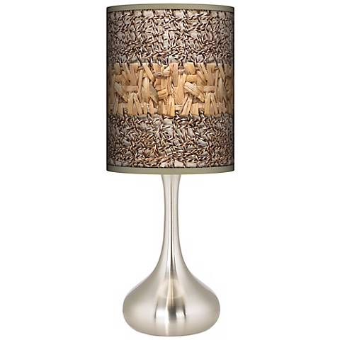 Woven Fundamentals Giclee Droplet Table Lamp